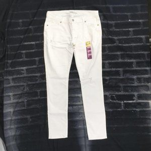 Old Navy The Diva White Distressed Skinny Jeans 6